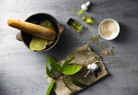 medicinal preparation with bay leaves